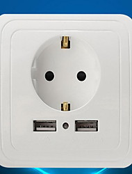 Electrical Outlets PP With USB Charger Outlet 8*8*4