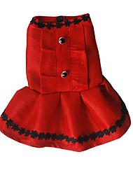 Chien Robe Vêtements pour Chien Décontracté / Quotidien Princesse Noir Fuchsia Rouge