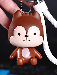 Bag / Phone / Keychain Charm Cute Cartoon Toy With Strap Phone Strap PVC