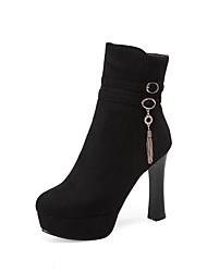 Mujer Botas Botas de Moda Aterciopelado Otoño Invierno Boda Vestido Fiesta y Noche Cremallera Borla Tacón Stiletto Negro Azul Borgoña10 -