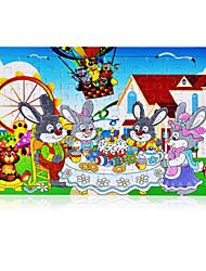 Puzzles Puzzle Blocs de Construction Jouets DIY  Rabbit Autres Ovale Fleur