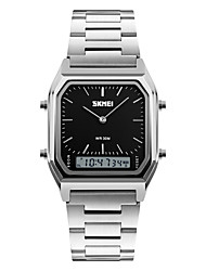 SKMEI Муж. Наручные часы Кварцевый Нержавеющая сталь Группа Серебристый металл