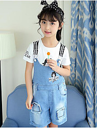 Girls' Solid Others Sets,Cotton Summer Short Sleeve Clothing Set