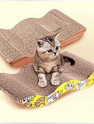 Cat Scratch Board with Catnip Cat Toy Pet Toys Catnip Scratch Pad Paper