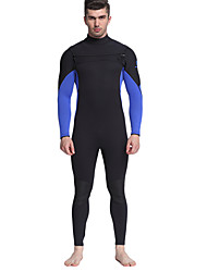 MYLEDI Men's 3mm Drysuits Full Wetsuit Waterproof Thermal / Warm Front Zipper Wearable YKK Zipper Thick Full Body Neoprene RubberDiving