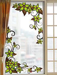 Window Film Window Decals Style Flower Vine Grind Arenaceous PVC Window Film- (60 x 116)cm