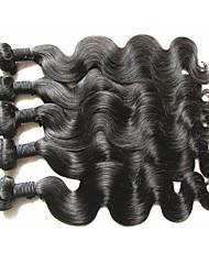 Оптовые высшие качества виргинских бразильских человеческих волос волна тела 5bundles 500 г натуральный натуральный цвет волос мягкий и