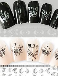 2 Стикер искусства ногтя С рисунком 3-D Компоненты для самостоятельного изготовления макияж Косметические Ногтевой дизайн