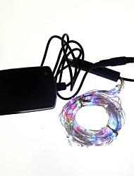 10W Cordões de Luzes 600 lm AC 100-240 V 2 m 200 leds Multicolorido