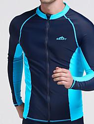 Муж. Устойчивы к ультрафиолетовому излучению Стреч Чинлон Водолазный костюм Длинный рукав Верхняя часть-Серфинг Дайвинг Осень Лето