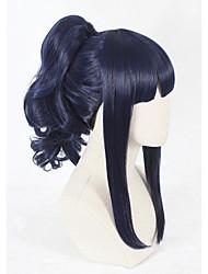 Perucas sintéticas Sem Touca Curto Azul Faux Locs Wig Peruca para Cosplay Perucas para Fantasia