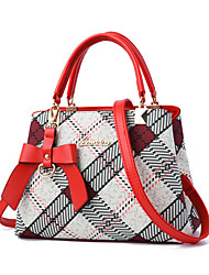Women Bags All Seasons PU Tote with for Casual Formal Outdoor Office & Career Black Red Beige Coffee Khaki