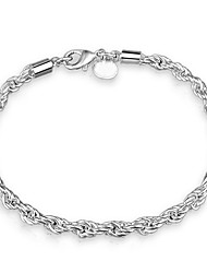 Couple's Chain Bracelet Jewelry Fashion Costume Jewelry Copper Silver Plated Irregular Jewelry For Wedding Party Dailywear