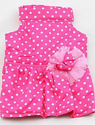Cachorro Vestidos Roupas para Cães Casual Pontos Roxo Azul Rosa claro
