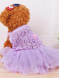 Chien Robe Vêtements pour Chien Décontracté / Quotidien Princesse Violet Bleu Rose