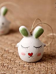 Saco / telefone / chaveiro charme coelho cartoon brinquedo cerâmico