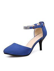 Women's Sandals Basic Pump Nubuck leather Summer Wedding Office & Career Party & Evening Dress Basic Pump Crystal Stiletto HeelBlue Green