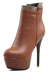 Women's Shoes Stiletto High Heel Pointed Toe Platform Ankle High Boot With Zipper More Color Available
