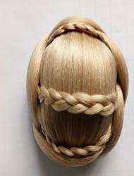 rizado rizado de oro novia de la armadura moños cabello humano sin tapa pelucas 1003
