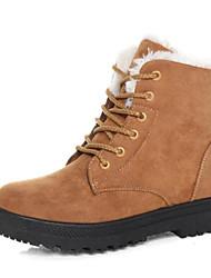 Women's Boots Snow Boots Fall Winter Suede Walking Shoes Casual Outdoor Split Joint Flat Heel Black Gray Blue Khaki Burgundy Flat