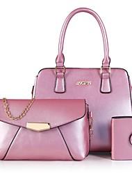 Damen Bag Sets PU Ganzjährig Normal Baguette Bag Reißverschluss Grün Schwarz Rote Rosa Beige