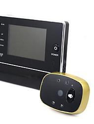 Visor digital peephole de porta de 3,5 polegadas com câmera de visão noturna lcd infravermelho dvr 3-time-zoom