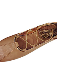 Women's Flats Comfort PU Summer Casual Lace-up Flat Heel Dark Brown Beige Black Flat