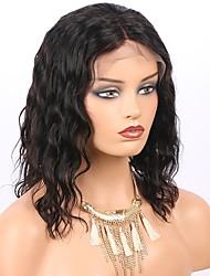 Parrucche peruviane parrucche peruviane 8 '' - 14 '' incappucciate frontali in pizzo con i capelli del bambino superiore 150% densità del
