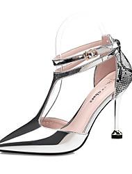 Femme Chaussures à Talons Confort Automne Similicuir Mariage Boucle Talon Aiguille Or Noir Argent Champagne 7,5 à 9,5 cm
