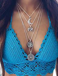 Жен. Слоистые ожерелья Круглый Овальной формы Круглой формы Геометрической формы Бижутерия Сплав Мода Богемия Стиль По заказу покупателя