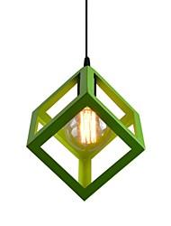 1 головка старинная металлическая клетка тень подвеска огни стиль кантри мини-люстра для баров кухня столовая свет светильник