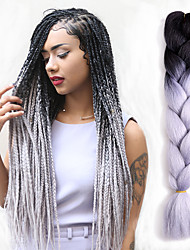 41 Colours Jumbo Braids Bulk Synthetic Hair 24'' 100g African Braiding Hair Style Crochet Hair Extensions 1Packs