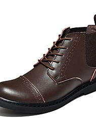 Men's Boots Comfort Riding Boots Fashion Boots Motorcycle Boots Combat Boots Light Soles Real Leather PU Cowhide Leather Patent Leather