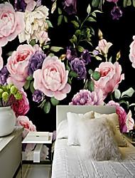 3D Цветы Классика Обои Для дома Современный Пастораль Стиль Облицовка стен , Холст материал Клей требуется фреска , Обои для дома
