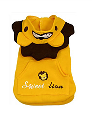 Dog Costume Dog Clothes Cosplay Lion Yellow