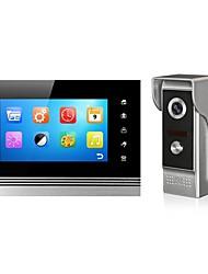 7 polegadas lcd tela video porta-voz video porta-telefone para o sistema de entrada de entrada intervent