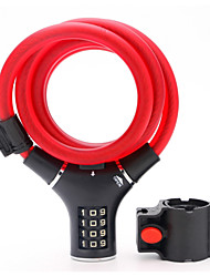 Carbon Steel Fixed Cable Bicycle Lock 4 Digit Password Bicycle Electric Car Lock