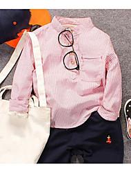 Boys' Stripe Shirt,Polyester Spring Long Sleeve