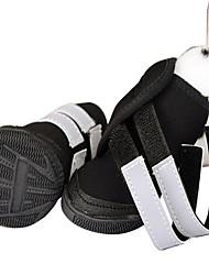 Собака Ботинки и сапоги Спорт Сплошной цвет Черный