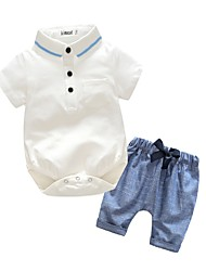 Baby Kids' Outdoor Party/ Evening Birthday Sport Going out Holiday Solid Color Clothing Set,Dresswear Summer Fall