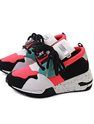 Women's Athletic Shoes Formal Shoes Fall PU Walking Shoes Athletic Casual Office & Career Lace-up Low Heel White Black 2in-2 3/4in
