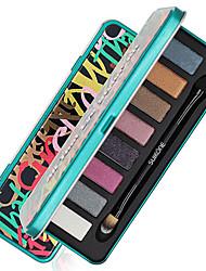 8 Color in 1 Palette, 2 Color Palette Select Paleta de Sombras de Ojos Seco Mate Brillo Paleta de sombra de ojos Polvo Maquillaje de