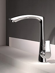 Contemporary Modern Style Centerset High Quality with  Ceramic Valve Chrome  Single Handle Kitchen Sink faucet