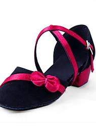 Kids' Latin PU Flats Sandals Indoor Flat Heel Fuchsia