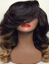 Body Wave For Black Women Glueless Full Lace Human Hair Wigs P2/27 Color  Ombre Side Part 8-26 Inch