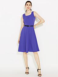 2016 hepburn rétro robe col en col col large jupe robe en coton mauve femmes seulement