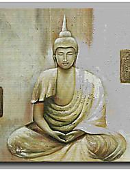 Ручная роспись Религия Художественный Шинуазери (китайский стиль) Религиозные Этнические и иностранные Новый год 1 панель Холст