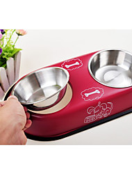 Cat Dog Bowls & Water Bottles Pet Bowls & Feeding Ruby White