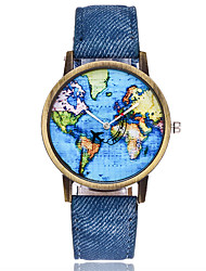 XU Men's Luxurious Elegant Quartz World Map Wrist Watch Dress Watch