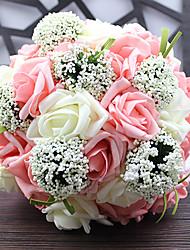 1 Ramo Poliéster Flor de Mesa Flores artificiais